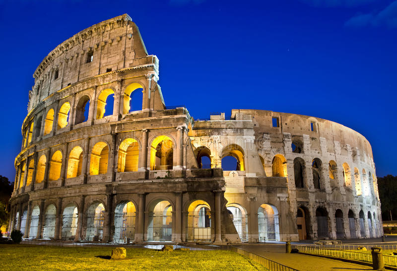 Rome - Colosseum at dusk royalty free stock images
