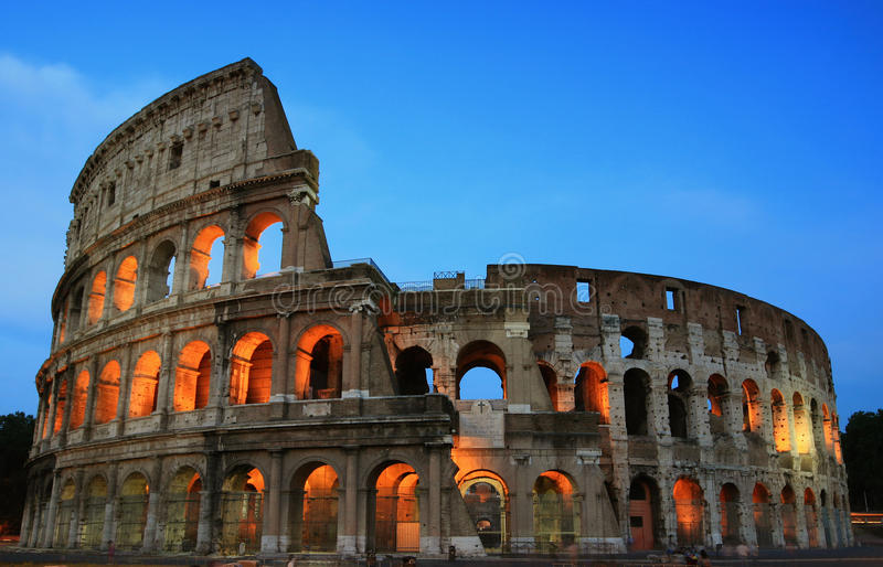 Rome Colosseum at evening royalty free stock image