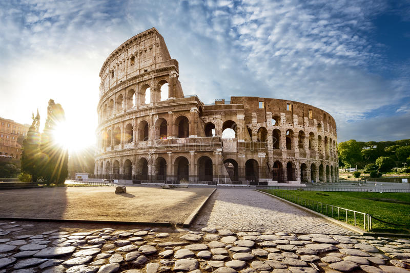 Rome and Colosseum, Italy stock images