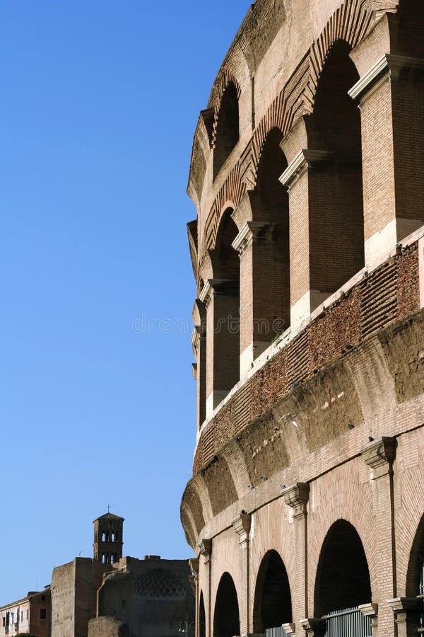 Rome Colosseum tegen Dag stock fotografie