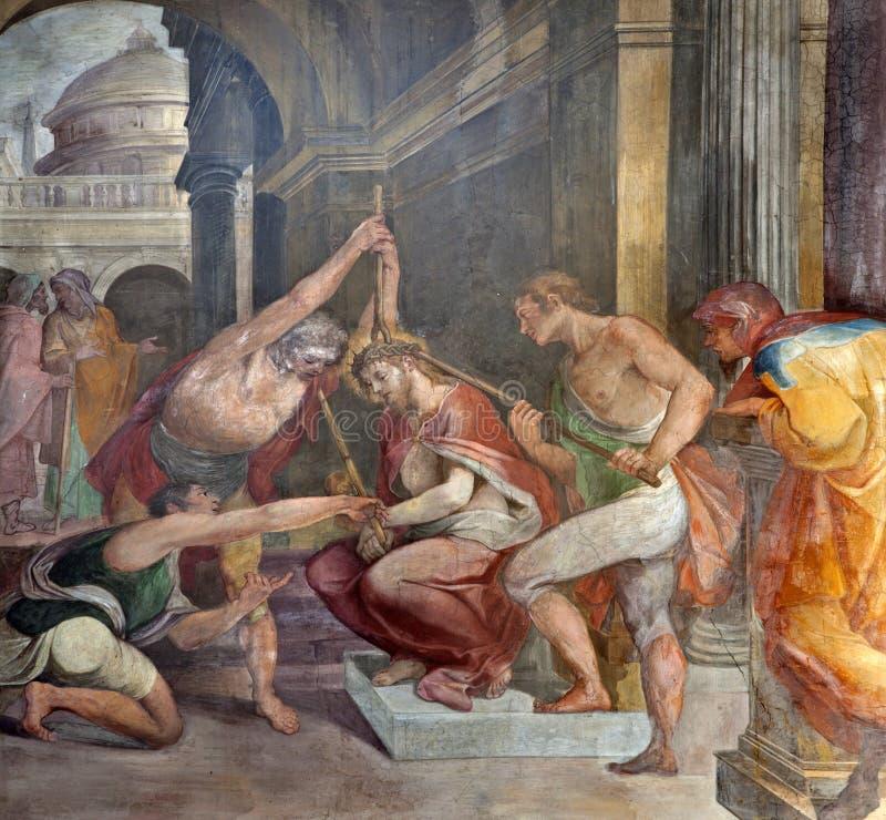 Rome - couronnement d'épines du Christ image stock
