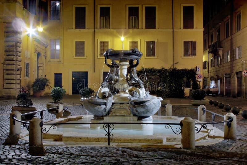 Rome, de Fontein van Tortuga royalty-vrije stock afbeelding