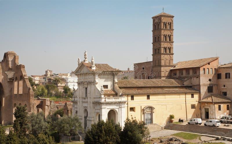 Rome - de kerk van Francesca Romana van de Kerstman royalty-vrije stock foto's