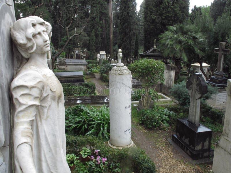 Rome de niet Katholieke Begraafplaats stock foto's