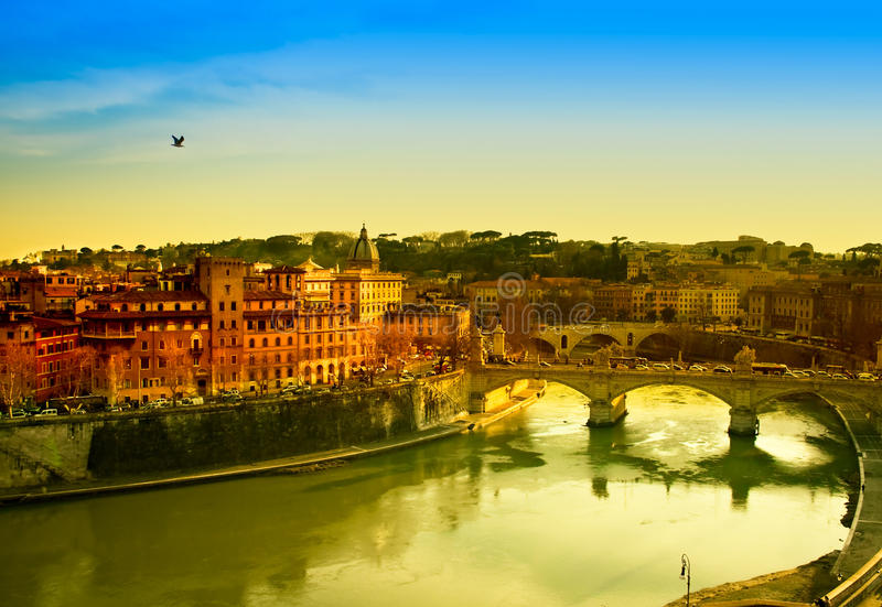 Download Rome At Dusk stock photo. Image of cityscape, orange - 15887308