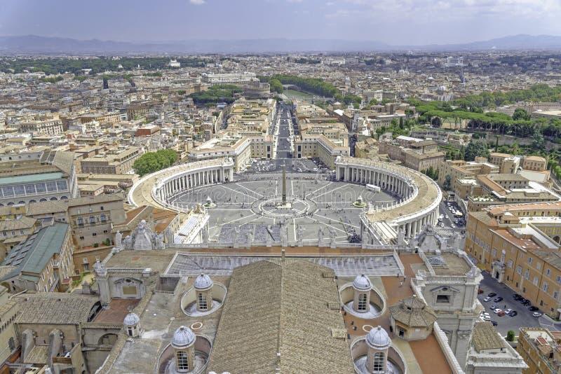 Rome et Ville du Vatican photographie stock libre de droits