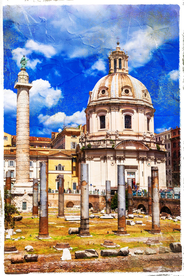 Rome - eternal city, artistic picture royalty free stock photography