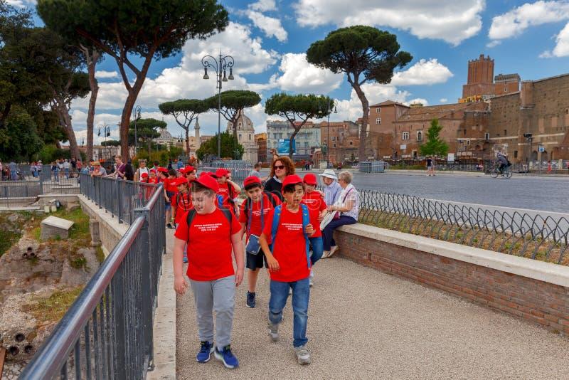 rome Excursie voor kinderen stock foto's