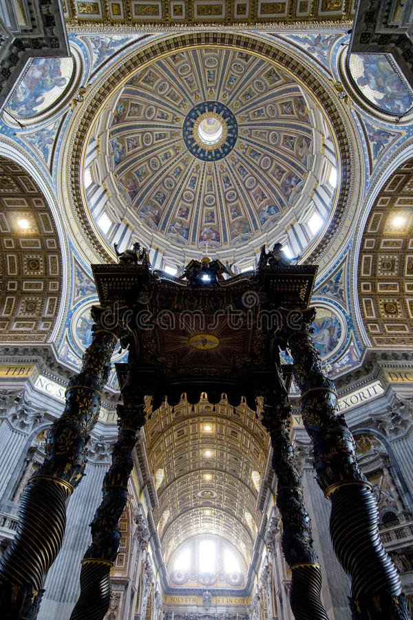 rome för basilicaitaly peters st royaltyfri fotografi
