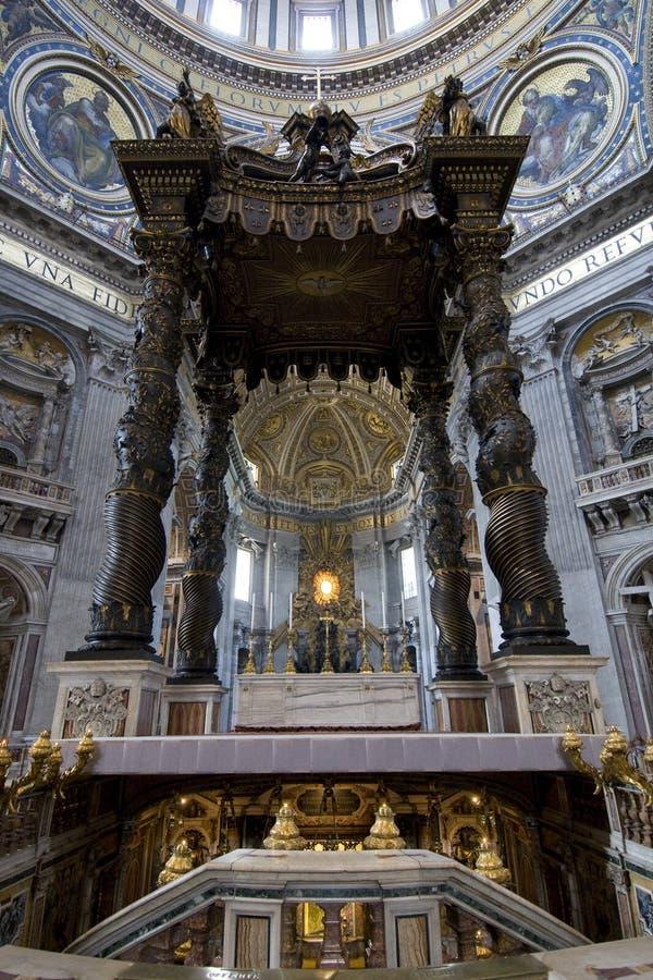 rome för basilicaitaly peters st royaltyfria foton