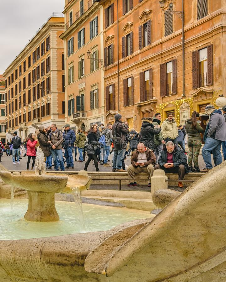 rome för diitaly piazza spagna royaltyfri bild