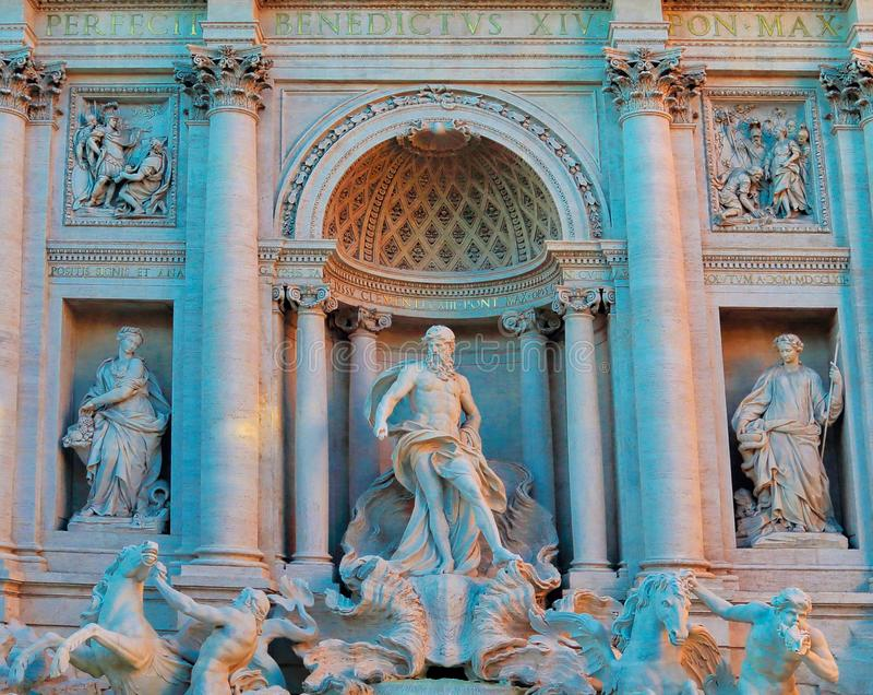 Rome, Famous Trevi Fountain Fontana Di Trevi. Italy royalty free stock images