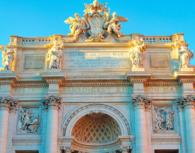Rome, Famous Trevi Fountain Fontana Di Trevi. Italy stock photos