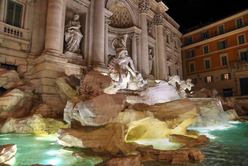 Rome, Famous Trevi Fountain Fontana Di Trevi. Rome, Landmark Trevi Fountain Fontana Di Trevi in historic part of Rome stock image