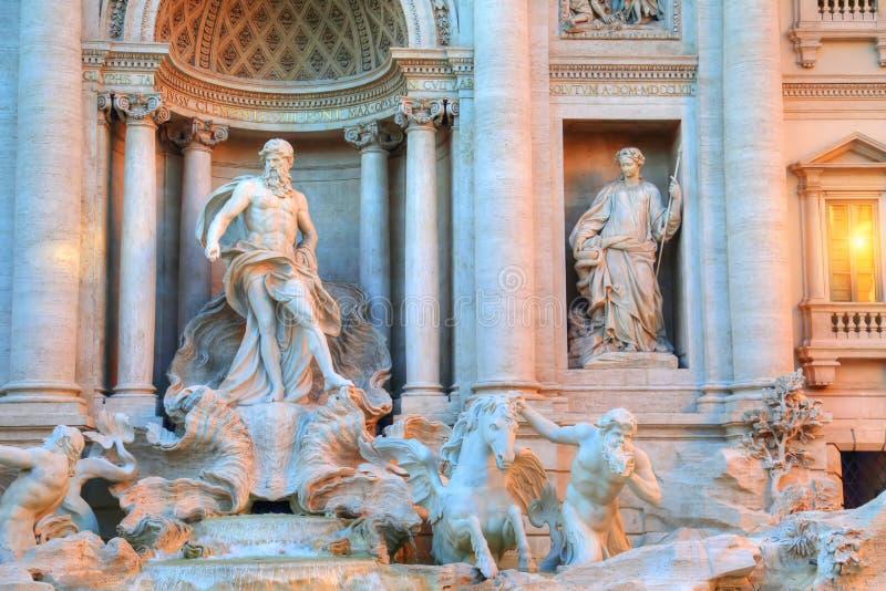 Rome, Famous Trevi Fountain Fontana Di Trevi. Rome, Landmark Trevi Fountain Fontana Di Trevi in historic part of Rome stock photos