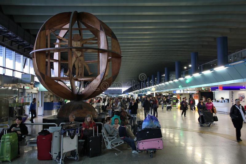 Rome Fiumicino airport royalty free stock image