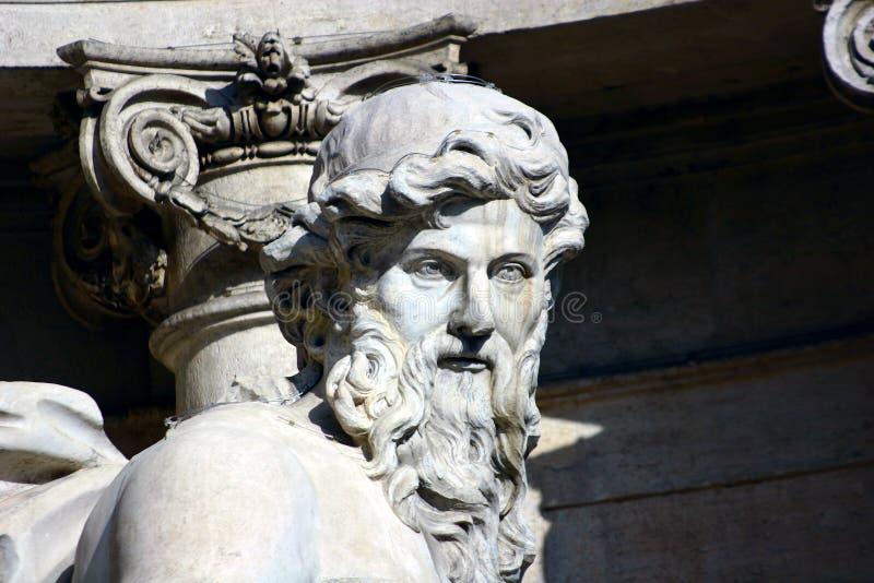 Rome Fontana di Trevi. Rome tourism monuments Fontana di Trevi architecture Palazzo Poli Nicolo Salvi architecture of ancient Rome 700 architects masterpieces stock image