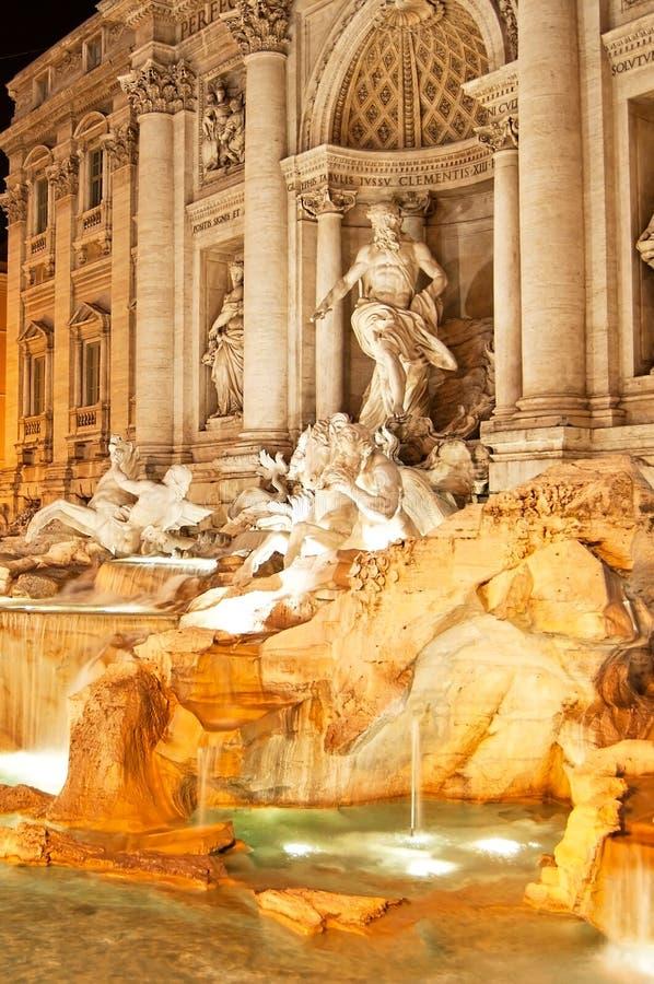Rome - Fontana di Trevi. In evening lighting stock images