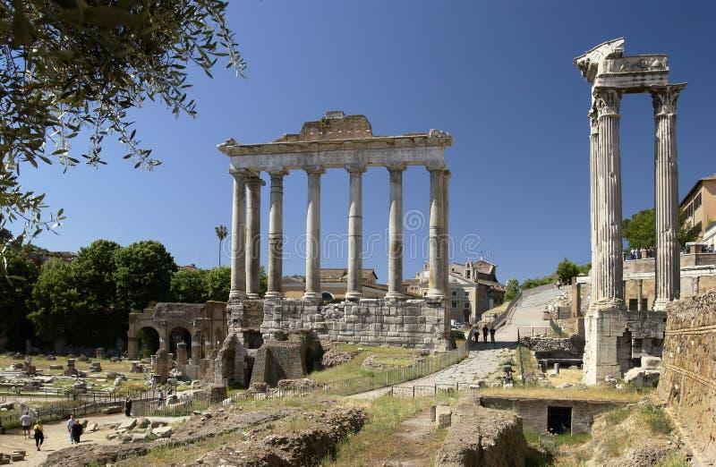Rome - forum romain - l'Italie images stock
