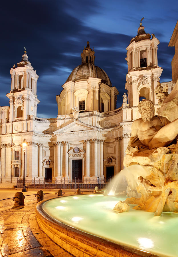 Rome, Fountain in Piazza Navona.  stock photography
