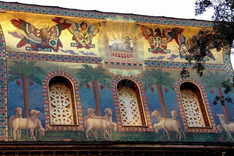 Rome framdel av en byggnad arkivbilder
