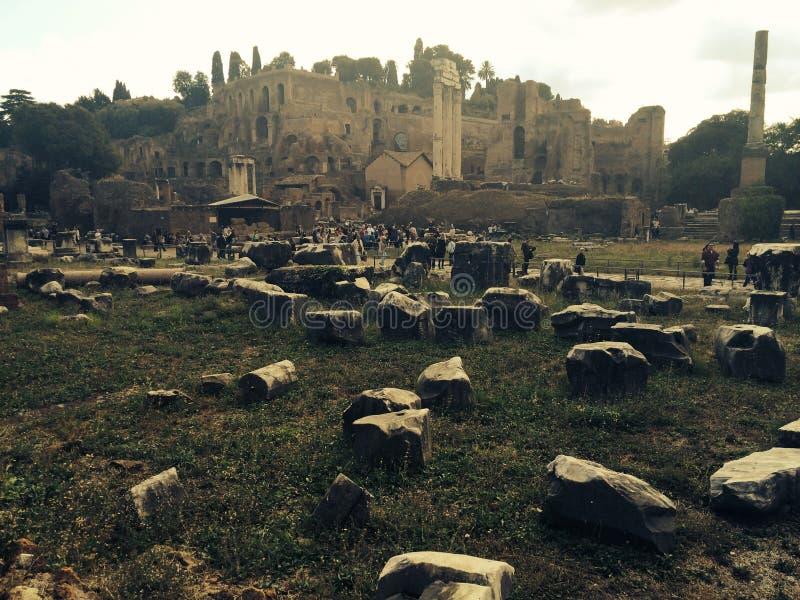 Roman Forum near the Colosseum stock photography
