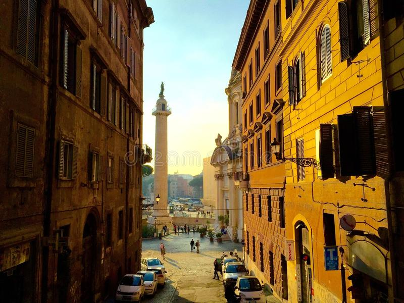 rome gata arkivbilder