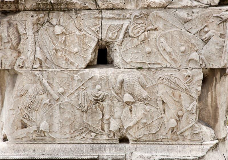 Rome - groupe de fléau de Trajan images libres de droits