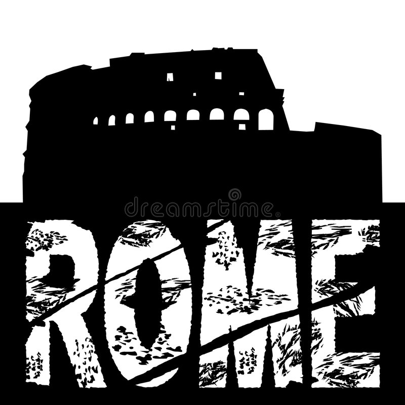 Rome grunge avec Colosseum illustration libre de droits