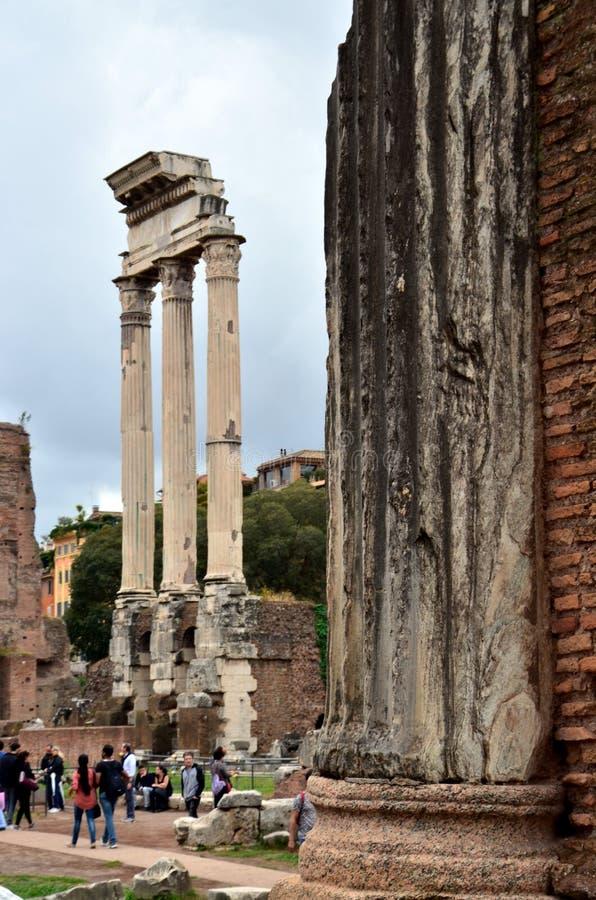 Rome het puin van forumromanum de ruïnes van oud royalty-vrije stock fotografie