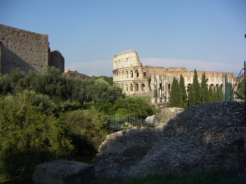 Rome historic buildings royalty free stock photos
