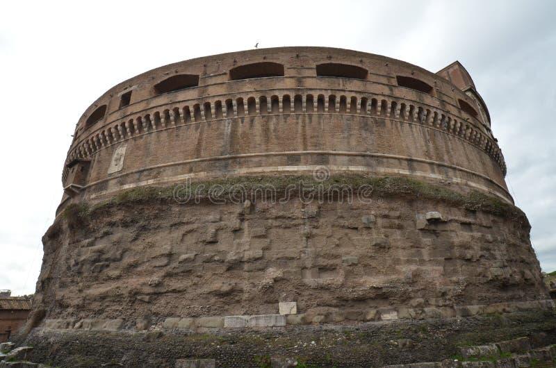 Rome historisk plats, befästning, medeltida arkitektur, forntida historia arkivbilder