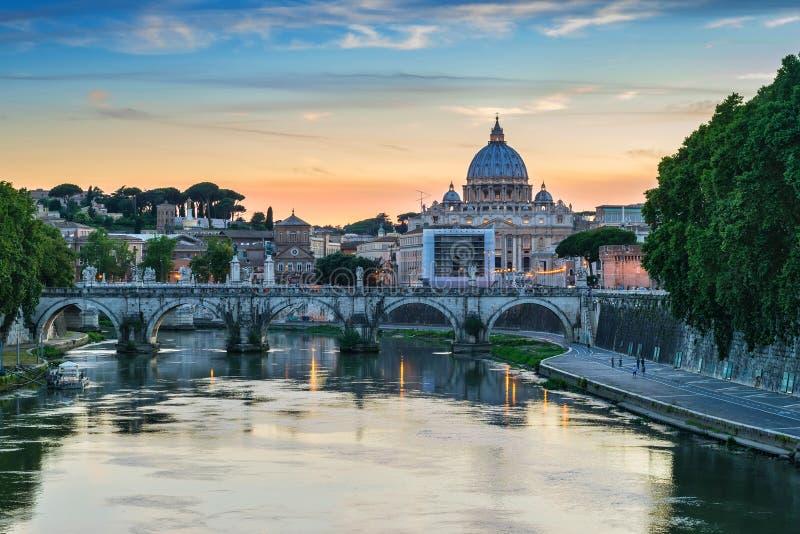 Rome horisont - Italien royaltyfri bild