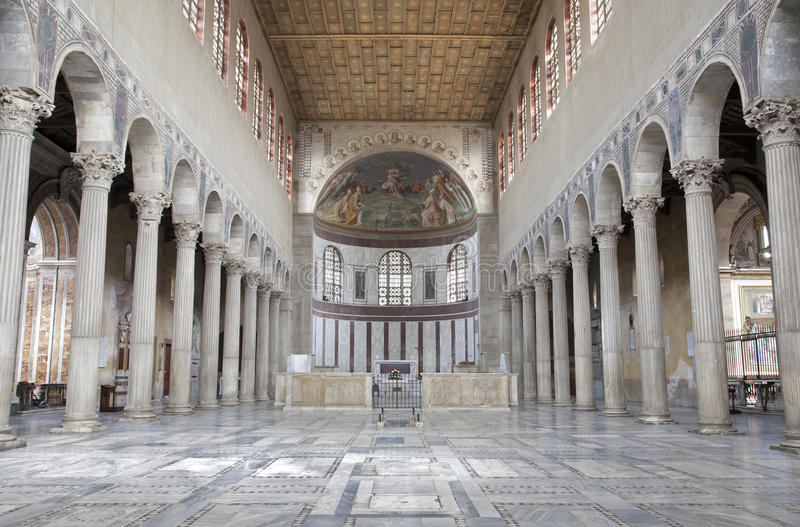Rome - interior of Santa Sabina royalty free stock photography