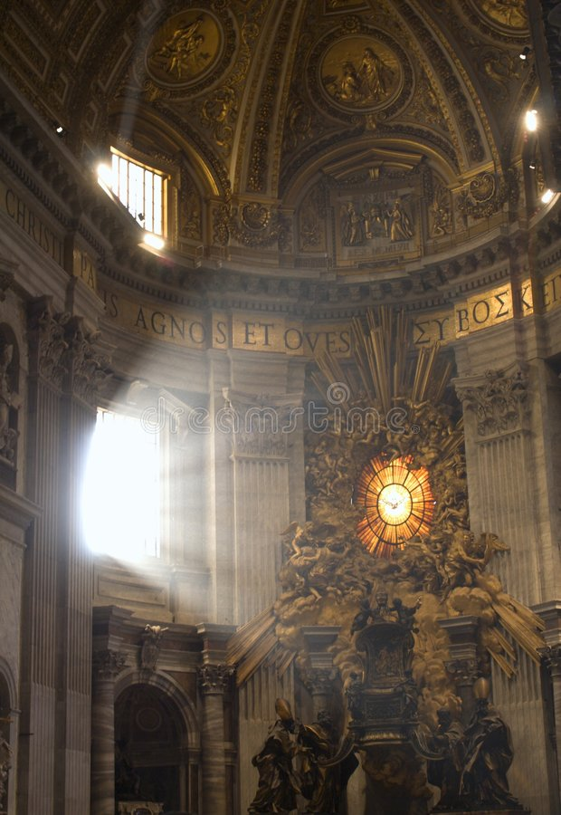 Rome - interior of st. Peters basilica royalty free stock image