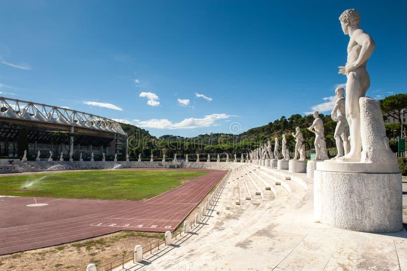 Rome, Italië - Augustus zesde 2016 Buitenmening van Stadion van Ma stock foto