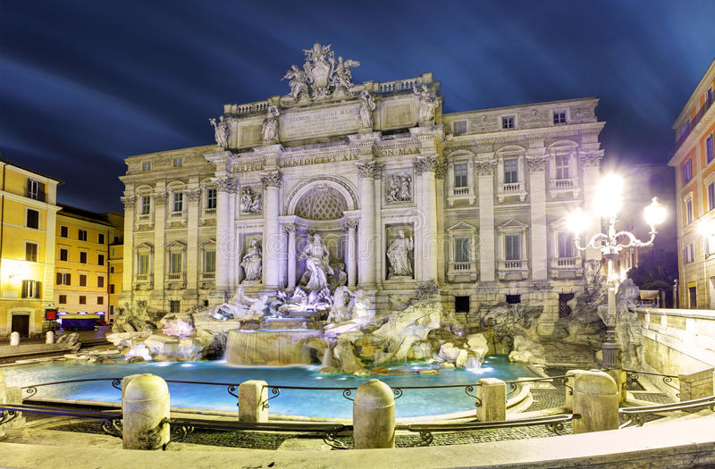 Rome, Italië - beroemde Trevi Fontein. stock fotografie