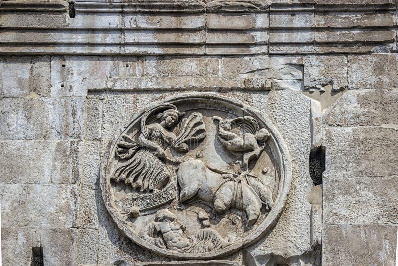Rome, Italië De Arch van Constantine Arco Constantino - het Romeinse rijk, het oude landschap royalty-vrije stock foto's