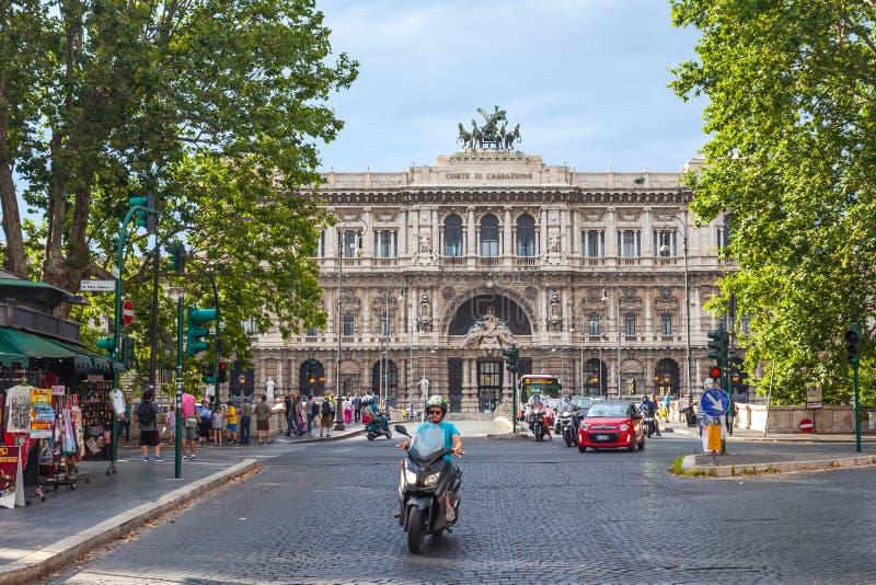Rome, Italië - 23 06 2018: Het Hooggerechtshof van Cassatie in Rome stock foto's