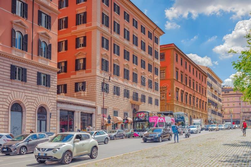 ROME, ITALIË 10 MEI, 2017: Mooi stedelijk landschap en histo royalty-vrije stock foto's