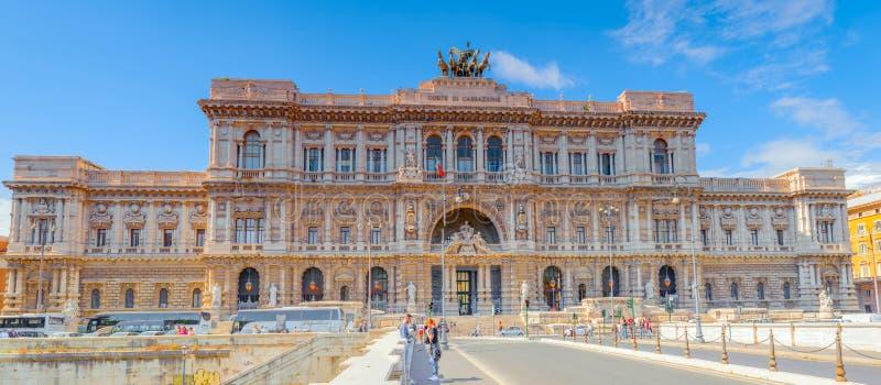 ROME, ITALIË - MEI 08, 2017: Paleis van Di van Rechtvaardigheidscorte suprema royalty-vrije stock afbeelding