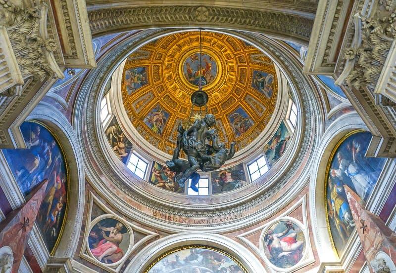 ROME, 12 ITALIË-OKTOBER, 2017: De koepel in Chiesa-Di Santa Maria royalty-vrije stock foto