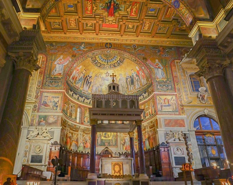ROME, ITALIË 9 OKTOBER, 2017: Het binnenland van van de Kapel van royalty-vrije stock foto's