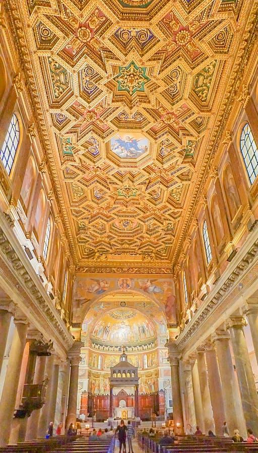 ROME, ITALIË 9 OKTOBER, 2017: Het binnenland van de Kapel van royalty-vrije stock foto's