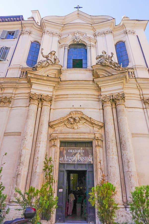 ROME, ITALIË: 12 OKTOBER, 2017: Oratorio del Santissimo Sacrament royalty-vrije stock afbeelding