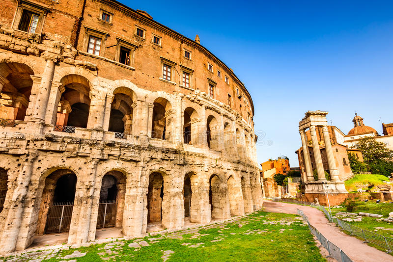 Rome, Italië - Theater van Marcellus royalty-vrije stock foto