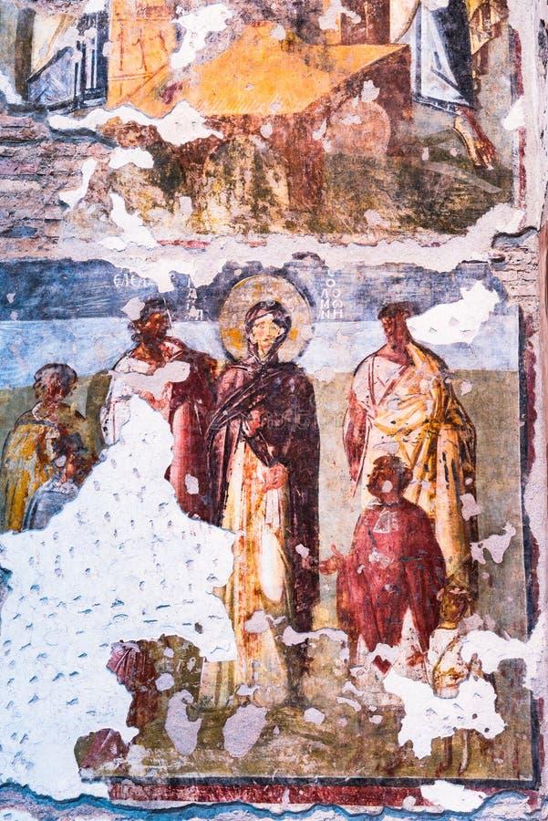 Rome Italie - fresques bizantins en colline de Palatine images libres de droits