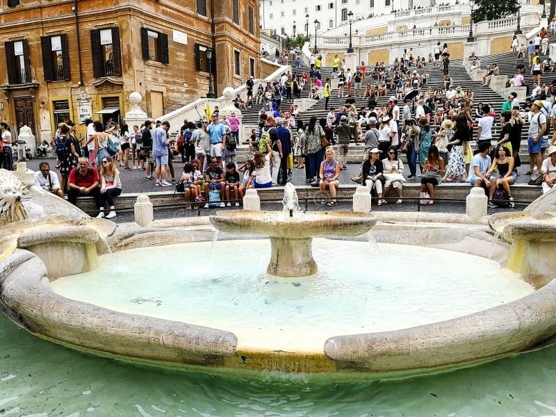 Rome, Italie, les étapes d'Espagnol image stock