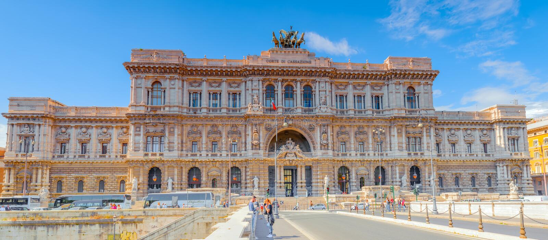 ROME, ITALIE - 8 MAI 2017 : Palais des Di de Corte Suprema de justice image libre de droits