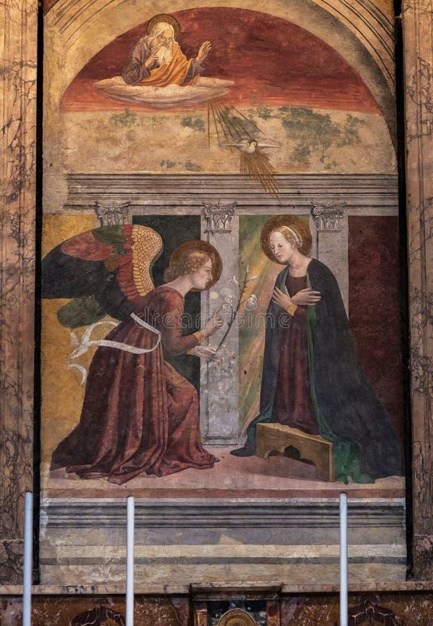 ROME, ITALIE - 11 SEPTEMBRE 2016 : Panthéon à Rome, Italie Melozzo DA Forl l'annonce images libres de droits
